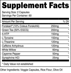 Transparent Labs Fat Burner Ingredients