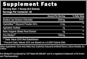 Steel Pumped AF Ingredients