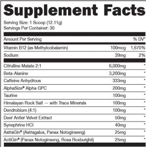 Woke AF Blue Raz Ingredients